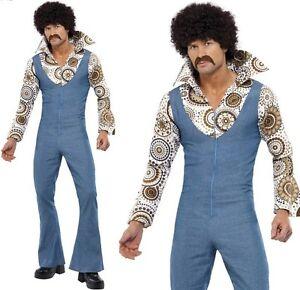 uk availability 179fb 98d14 Dettagli su Da Uomo Anni'60'70 trendy DANCER Costume Discoteca Costume  Vestito Da Smiffys Nuove- mostra il titolo originale