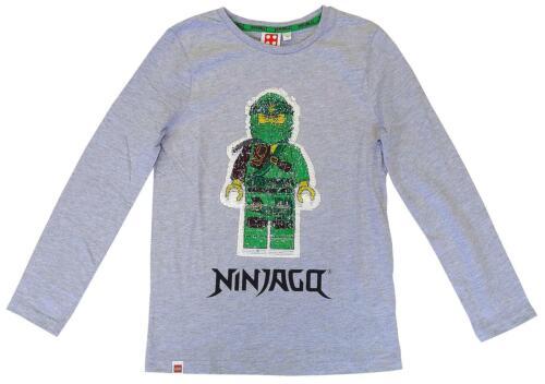 Jungen ninjago lego 2 Weg Pailletten Swipe Lang Ärmel Top Grau 4 Sich 10