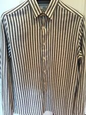 AMI Striped Brushed Cotton-Flannel Shirt Size 38/M