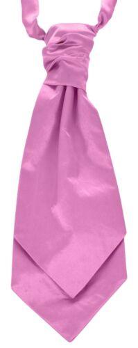 Pre-tied Childrens Boys Wedding Cravats Ruche Scrunch Ties Formalwear Adjustable