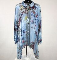 Citron Santa Monica Clothing Sheer Georgette Tunic & Shell Blouse Set 2x