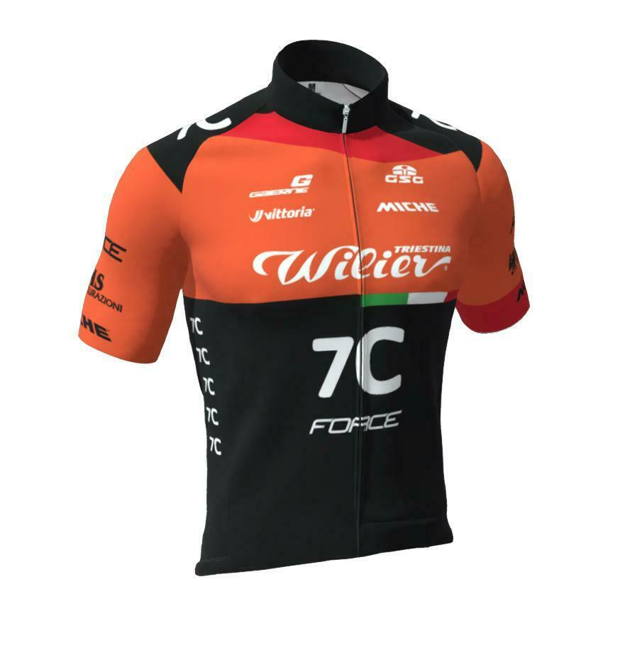 2019 Wilier Pro  squadra Cycling Jersey  Race fit  fatto in  by GSG