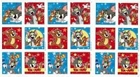 3 Sheets Tom & Jerry Scrapbook Stickers Cat Mouse