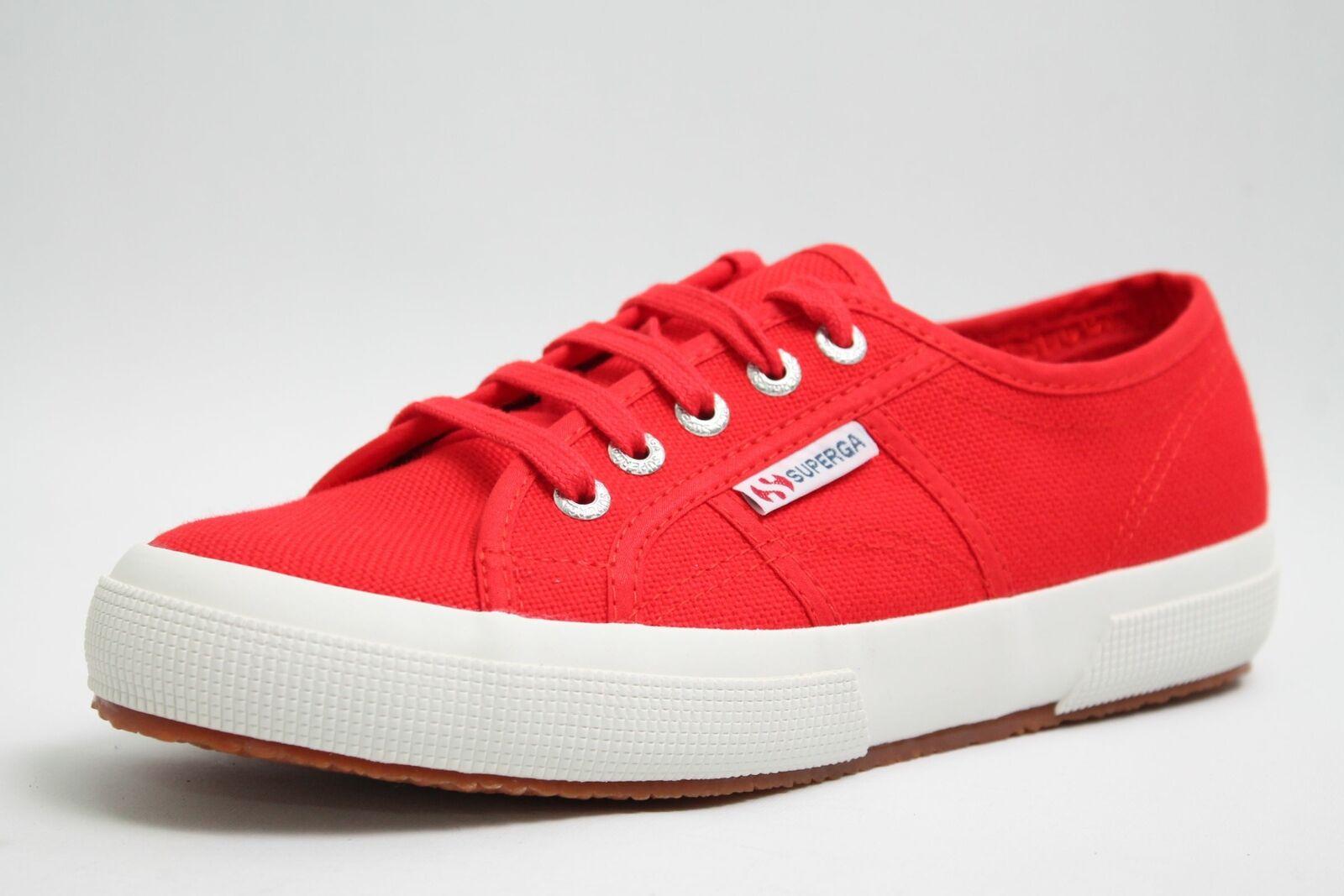 Superga Schuhe rot Textil Damen Turnschuhe