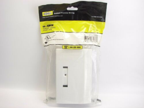 4-port NEW HUBBELL ISM4W White ISM Surface Mount Box