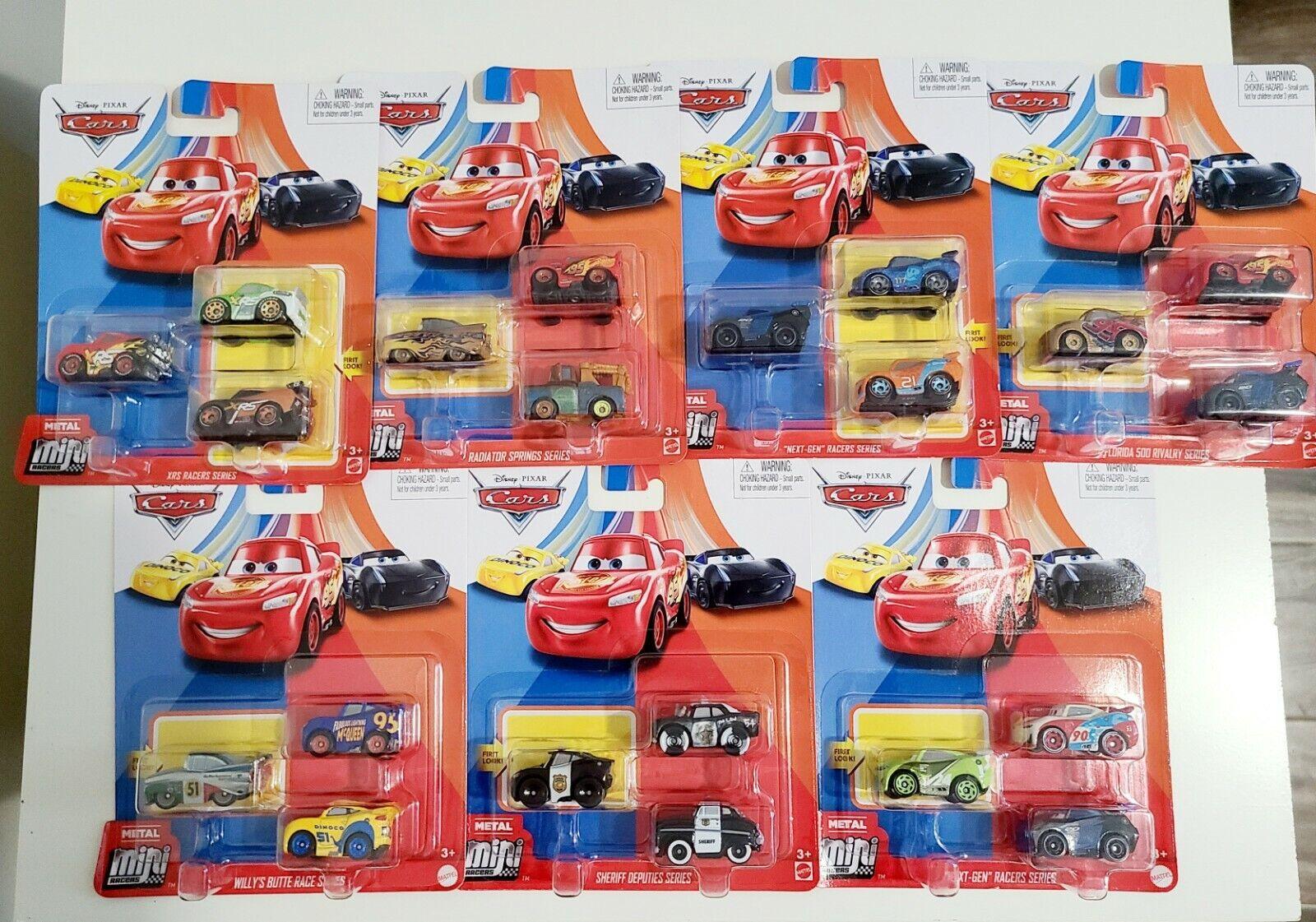 DISNEY CARS MINI RACERS RYAN à l/'intérieur LANEY JACKSON STORM 3 Pack! RALPH CARLOW
