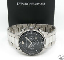 EMPORIO ARMANI AR0585 Bubble Back Chronograph Mens SS Bracelet Watch ON SALE!