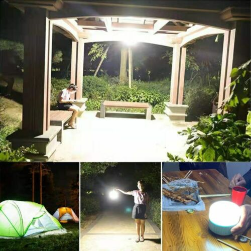 Solar LED Camping Light USB Rechargeable Bulb Tent Lanterns Emergency Light