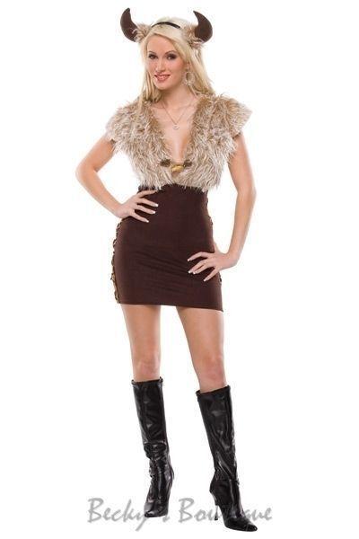 Coquette M6080 Viking Vixen Adult Women Sexy Costume Halloween Cosplay S/M, M/L