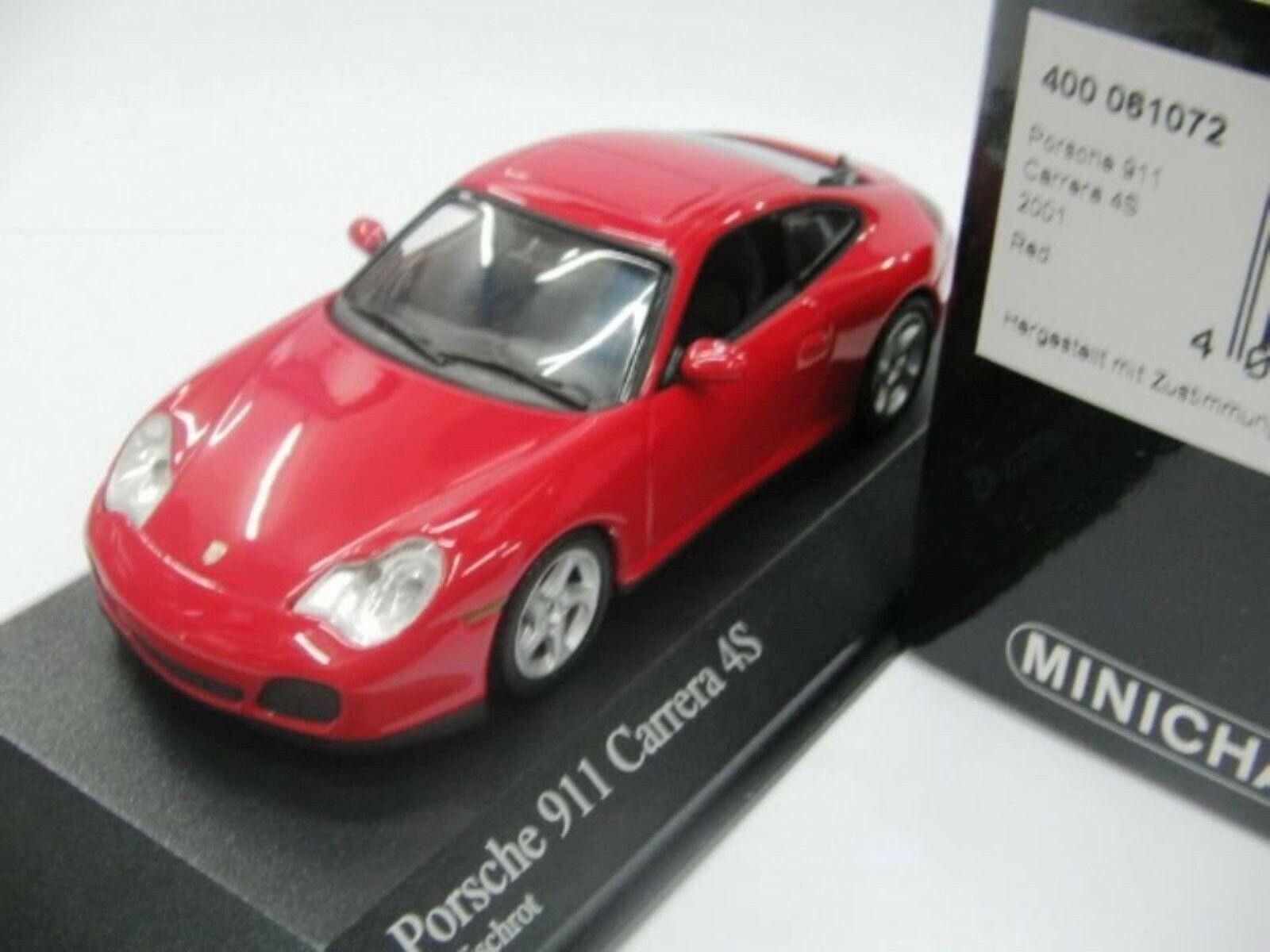 Wow extremadonnate raro Porsche 996 911 2001 C4 S Coupe rosso 1 43 Minichamps-GT2-Spark
