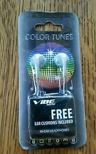 COLOR TUNES GREY IN-EAR HEADPHONES VIBE SOUND VS-120-GRY EAR CUSHIONS INCLUDED