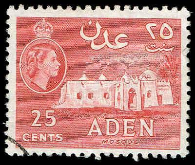 Stamps ' Aidrus Mosque ' Easy To Repair Aden (until 1967) Scott # 51-1953