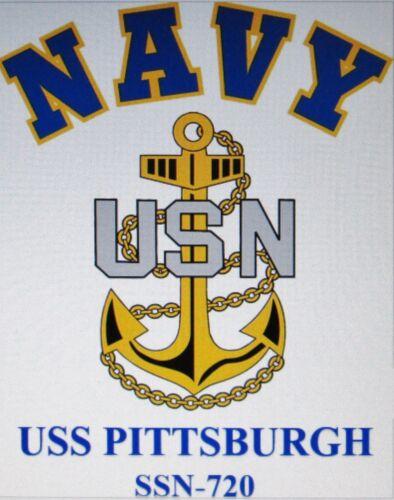 USS KEY WEST  SSN-722*  SUBMARINE U.S NAVY W// ANCHOR* SHIRT