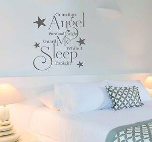 Dettagli su ADESIVI ANGELO CUSTODE PERSONALIZZATO camera da letto Adesivi  Murali Arredamento Preventivo- mostra il titolo originale