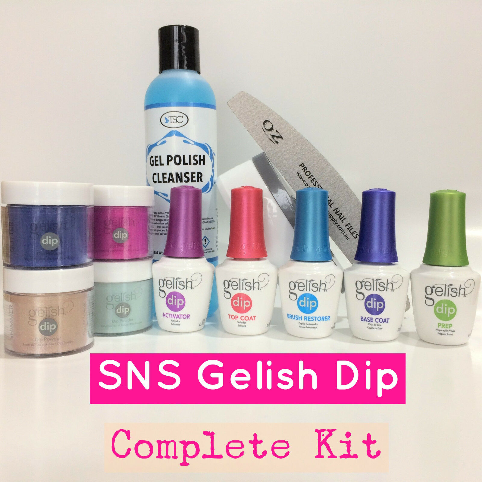 Gelish Dip SNS Liquids Nail Complete Kit Dipping Powders Choose Any ...