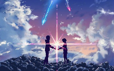 Poster A3 Your Name Kimi no Na wa Pelicula Anime Shojo Cartel Decor Otaku 09