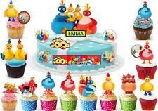 Twirlywoos Cup Cake 3d escena Toppers Fiesta De Cumpleaños arroz Oblea Comestibles Stand Up