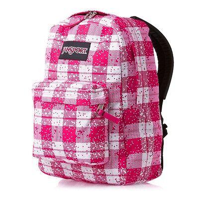 Jansport Black Label Superbreak Backpack Pink Tulip Digit Plaid
