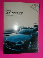 2016 Mazda 3 Owner's Manual Set (factory Sealed)