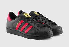 adidas superstar red black
