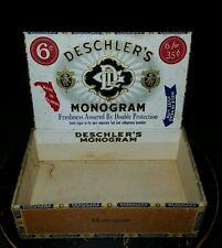 VINTAGE RED LION, PA CIGAR BOX - DESCHLERS MONOGRAM