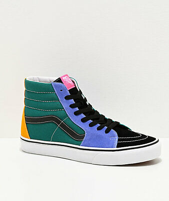 Neuf Vans Sk8 Hi Mélange Couleurs Jaune Cuvette Marée Skate Chaussures Hommes   eBay