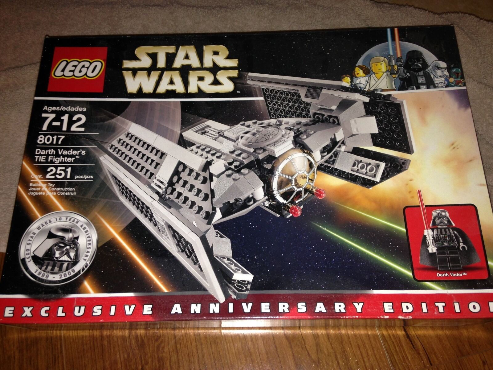 LEGO STAR WARS DARTH VADERS TIE FIGHTER    8017 NEW FAST FREE SHIP USA ONLY