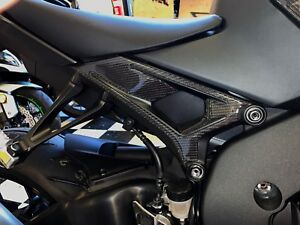 Real carbon fiber RIGHT front frame trim pad Fit Yamaha YZF-R1 Protector KIT