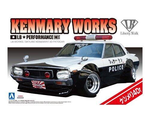 Aoshima 1 24 Kenmary Works LB-Works Nissan Skyline 4Dr Patocar
