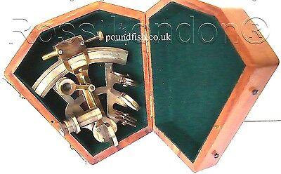 De Bronce De Barco sextante-Latón Marino sextante-Kelvin /& Hughes Londres 1917 Con Caja
