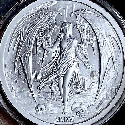 2016 Temptation of the Succubus 2oz .999 Fine Silver Hot Devil Girl skulls hot