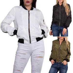 sale crazy price exquisite craftsmanship Details about Women Satin MA1 Bomber Jacket Ladies Vintage Summer Coat Army  Biker Retro