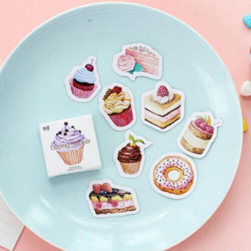 45 Pcs Pet Cake Whale Moon Paper Sticker Diary Decoration Scrapbooking Label DB