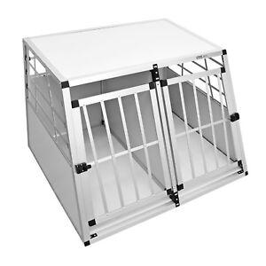 B-Ware-Hundebox-BALU-Transportbox-Hundetransportbox-Alu-Reisebox-Gitterbox-Gr
