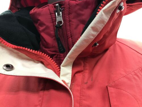 med Full Ll Coat Zip Bean Women's Liner Hooded Shell aftagelig Med Red xYxTpwqA
