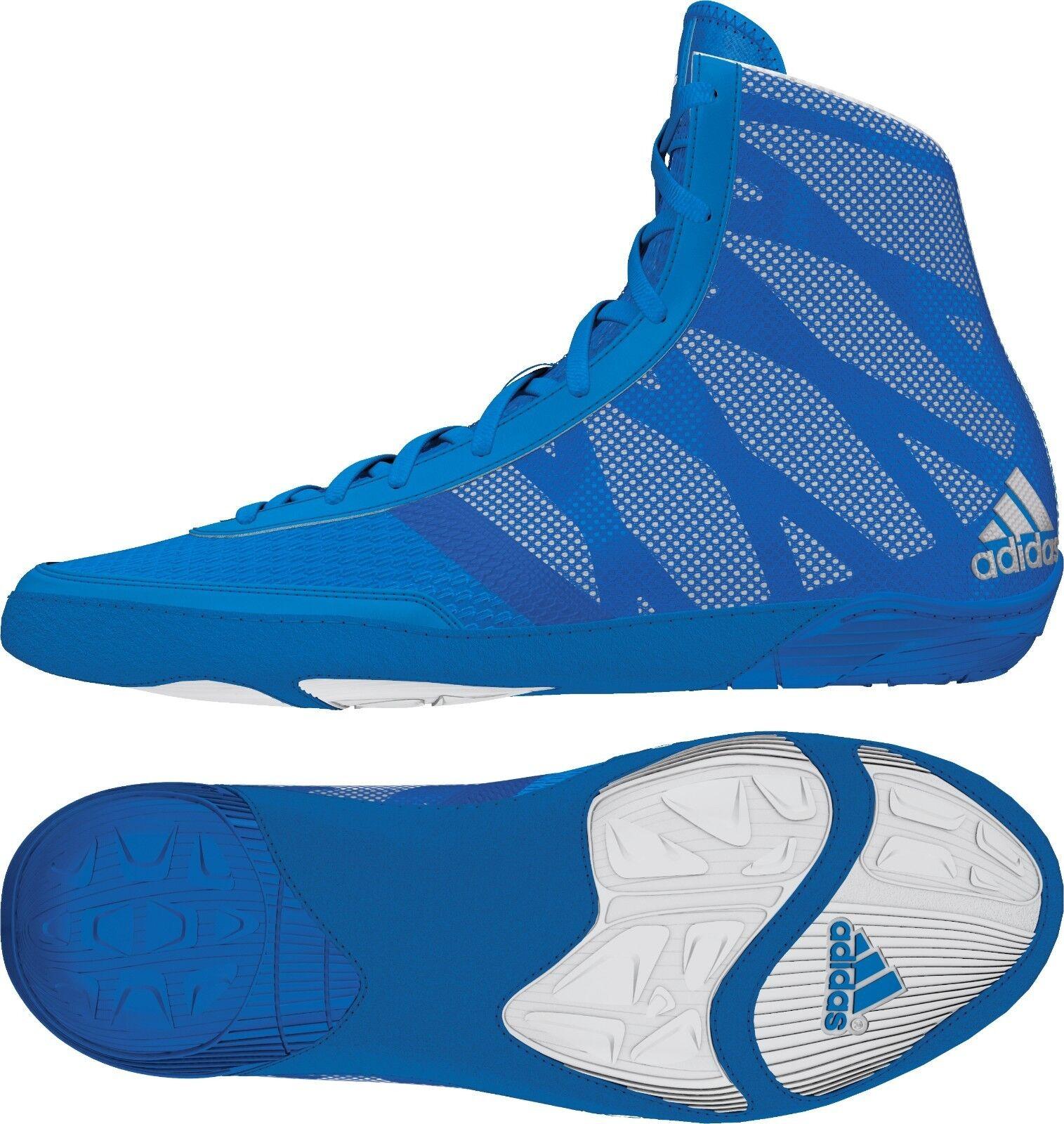 Adidas Pretereo III MEN'S Wrestling Shoes, Royal  Blue, Silver  AQ3292 NEW!