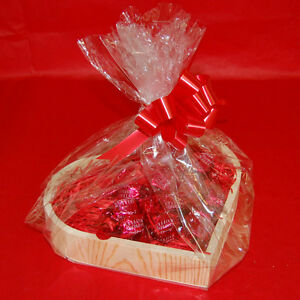 Wooden Heart Shaped Valentines Gift Hamper Kits Three Sizes Choice