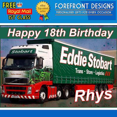 Truck Personalised Eddie Stobart Birthday Greeting Card A5
