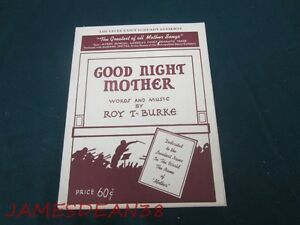 Roy T Burke Good Night Mother Eucke Dairy Eau Claire Wisconsin Sheet