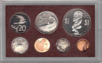KIRIBATI GILBERT MINT PACK PROOF 7 DIF COINS SET 1 CENT 1$ 1979 YEAR ANIMALS
