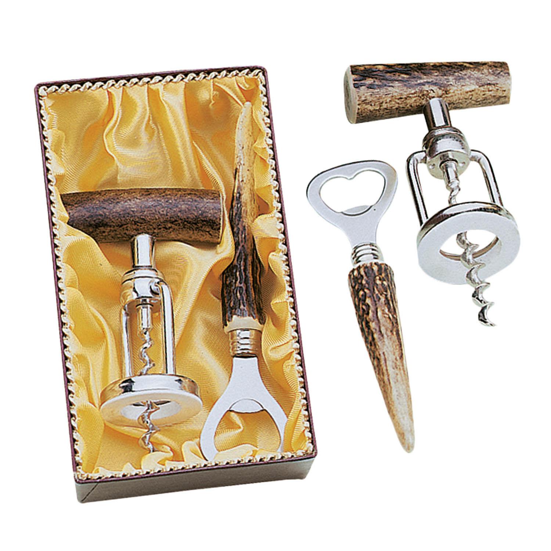 Fritz Man bargarnitur With Stag Horn 2 pieces Bottle Opener Corkscrew