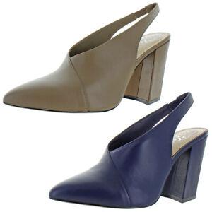 Vince Camuto Womens Tashinta Leather Pointed Toe SlingBack Classic Pumps
