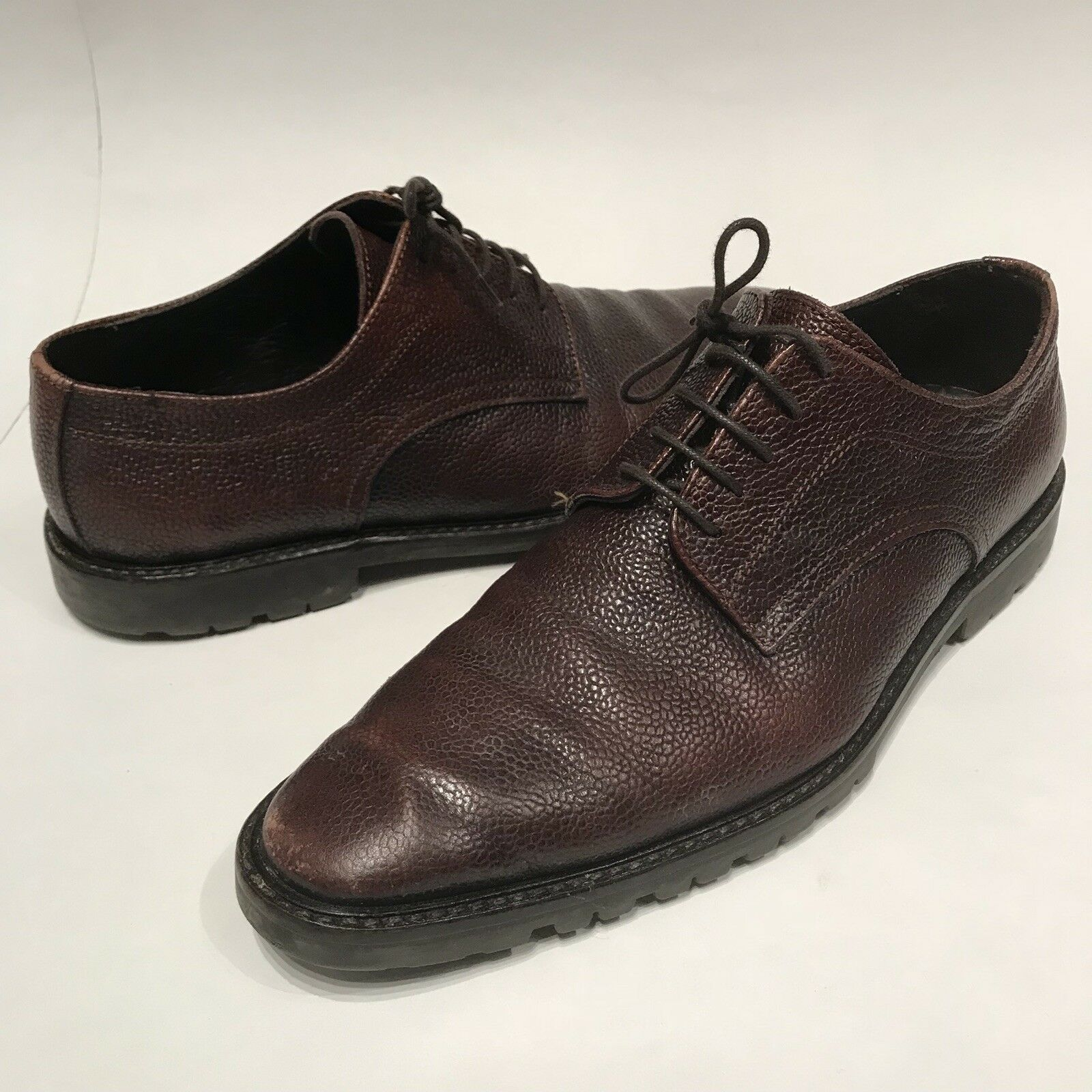 TO Stiefel NEW YORK ADAM DERRICK braun Leather Lace Up Lug Sole Oxford  US 9.5