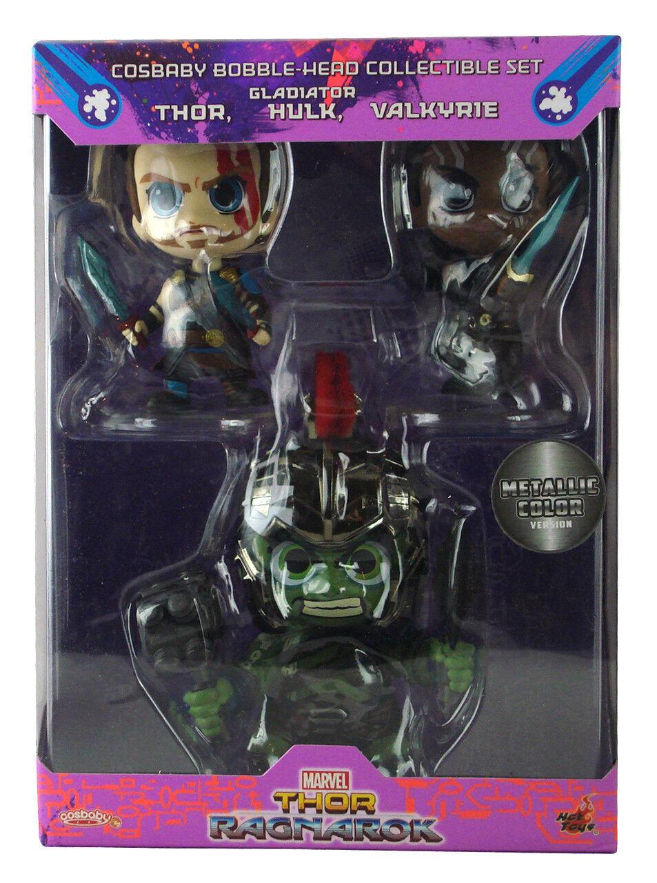 Hot Toys Cosbaby Thor Ragnarok Movie 3-Figure Box Set Gladiator Hulk Thor New