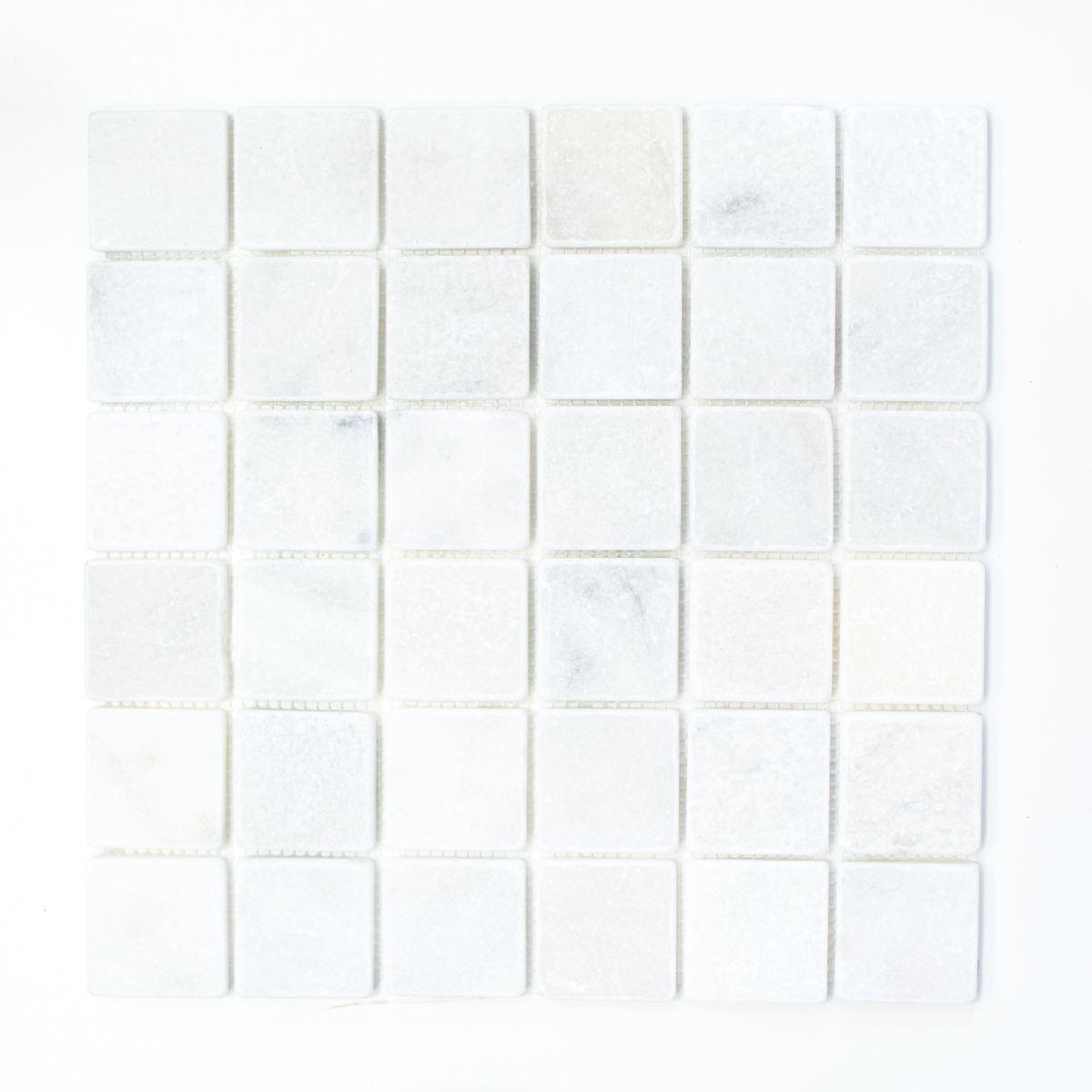 Marmormosaik Ibiza Weiß antique Marble Fliesenspiegel Art: 40-42048 | 10 Matten