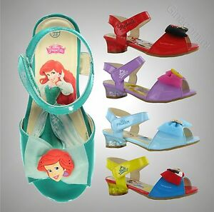 New Kids Girls Disney Princess Light Up Flash Small Heel