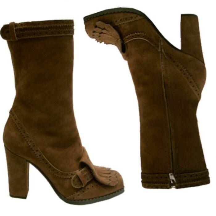 John Galliano botas flecos, con flecos botas