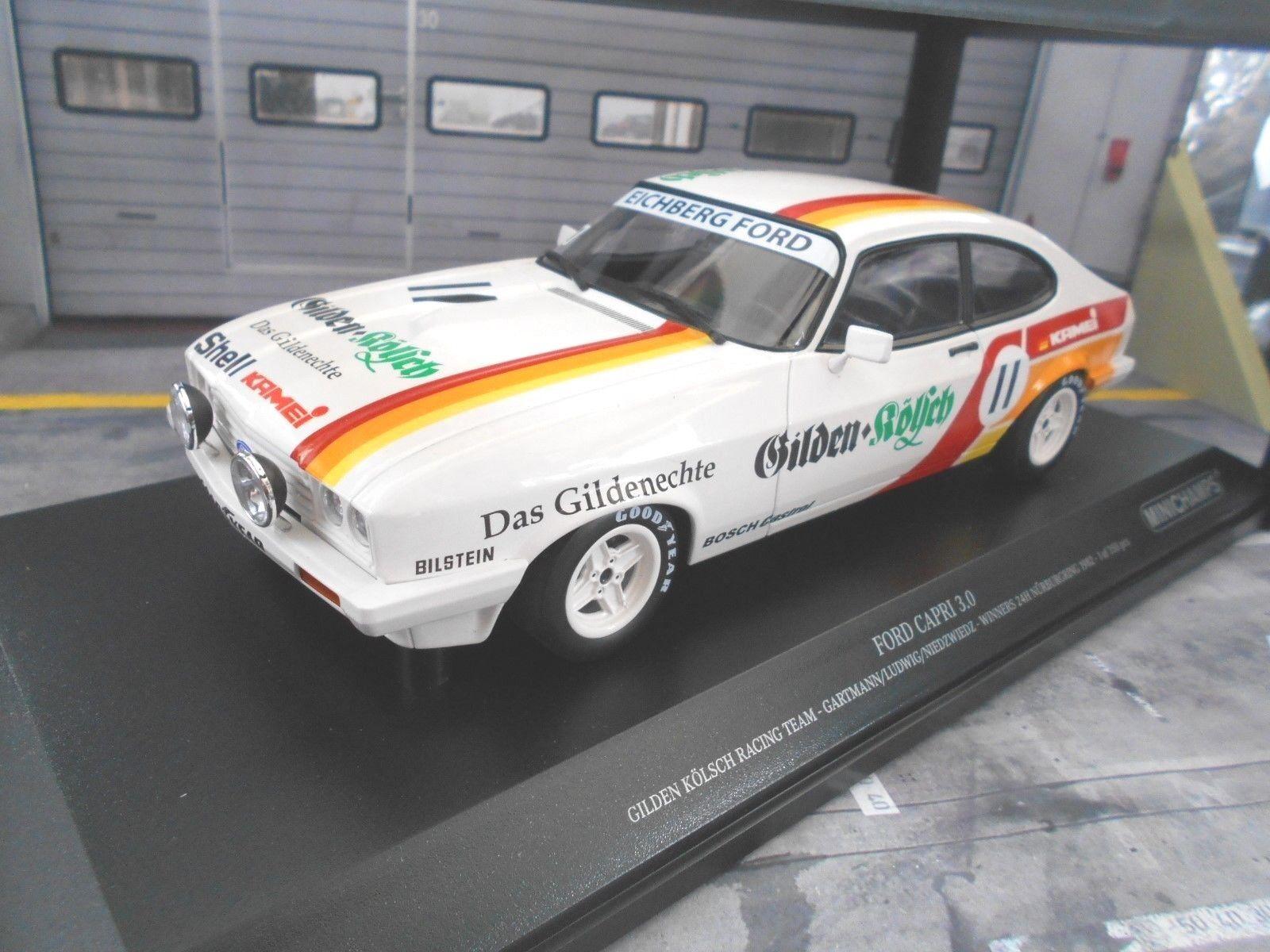 Ford Capri 3 III 3.0 24 H Nürburgring Winner 1982 Guildes Eichberg MINICHAMPS 1 18