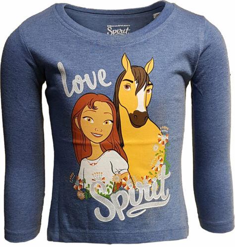 "Spirit Chemise manches longues /""LOVE SPIRIT/"" fille Jeansblau Taille 104//116//128"