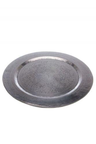 Orient Orientalisches Marokkanisches Vintage Tablett Serviertablett Silber Rund